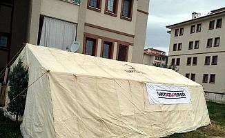 Vatandaşın 'ibadet çadırı' talebine Kızılay kayıtsız kalmadı
