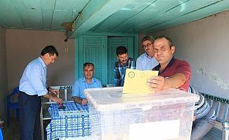 12 seçmenli mahallede sandık kapandı