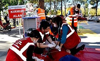 Sarıgöl Devlet Hastanesinde yangın tatbikatı