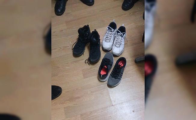 Ayakkabı hırsızı jandarmadan kaçamadı