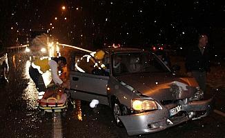 Kula'da zincirleme trafik kazası: 1 yaralı