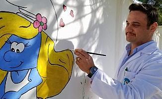 Hayvan barınağını sanat galerisine dönüştürdü