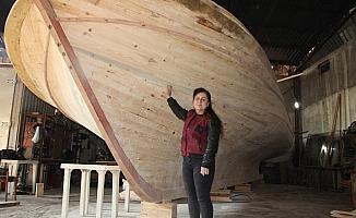 Kadın girişimci, denizi olmayan Manisa'da tekne üretiyor