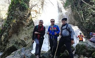 Spilos Dağcıları Kavacık Şelalesi'ndeydi