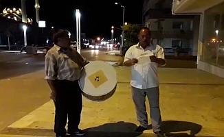 Ramazan davulcuları sigarasız bir dünya için çaldı