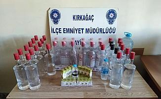 Kırkağaç'ta sahte içki operasyonu