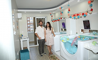 Manisa'da ilk ve tek bebek spa merkezi