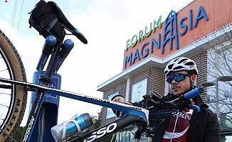 Manisa'da ilk bisiklet bakım istasyonu açıldı