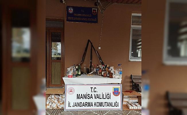 Jandarmadan işletmelere kaçak içki ve sigara operasyonu