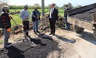 Başkan Akın arazi yollarındaki çalışmaları inceledi