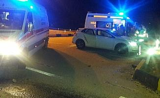 Manisa'da iki otomobil çarpıştı: 6 yaralı