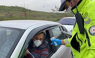 Turgutlu-İzmir yolunda polisten denetleme