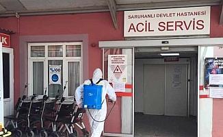 Saruhanlı Devlet Hastanesinin poliklinikleri Covid-19 nedeniyle kapatıldı