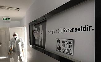 Turgutlu'da faaliyetlerine yeniden başlayan merkezler dezenfekte edildi
