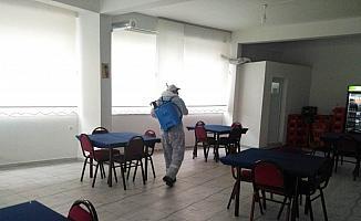 Yunusemre'de kahvehaneler dezenfekte ediliyor