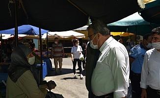 Başkan Çerçi yeniden açılan Karaköy Semt Pazarını gezdi