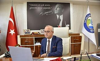 Başkan Kayda Türkiye Belediyeler Birliği'nin telekonferansına katıldı