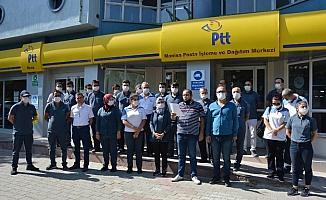 Posta dağıtıcısı kadına yapılan çirkin saldırı protesto edildi