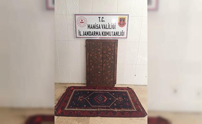 Manisa'da emlak ofisine tarihi eser operasyonu