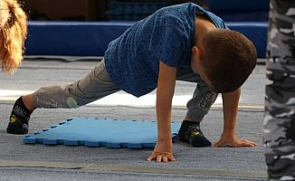 Cimnastik kurslarında geleceğin sporcuları yetişiyor