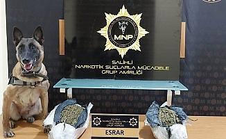 Manisa'da 5 kilo 340 gram esrar ele geçirildi