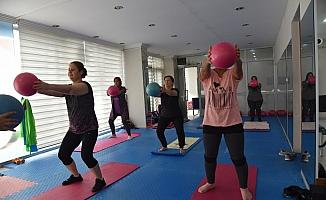 Sosyal mesafeli spora kadınlardan yoğun ilgi