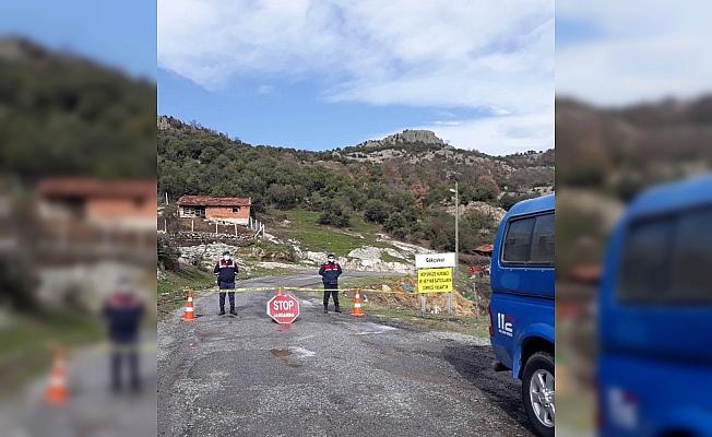 Kırkağaç'ta bir mahalle karantinaya alındı