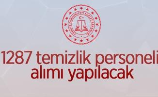 Adalet Bakanlığı 1287 temizlik personel alımı yapacak