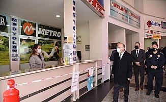 Manisa'da Şehirlerarası Otobüs Terminali denetlendi