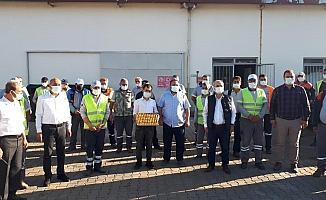 Başkan Kayda, temizlik işçileriyle bayramlaştı