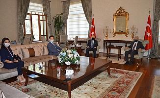 Vali Karadeniz Başkan Ergün ve Müdür Ataseven'i ağırladı
