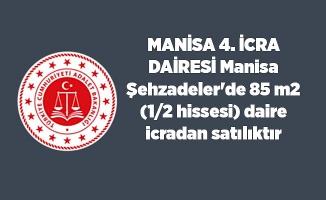 Manisa Şehzadeler'de 85 m2 (1/2 hissesi) daire icradan satılıktır