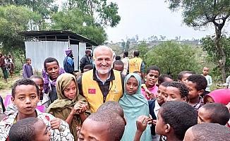 Manisalılar, Etiyopyalı çocukların yüzlerini güldürdü