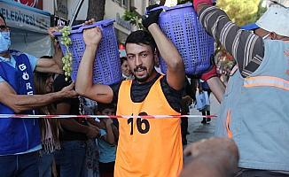 'Alaşehir Kelter çekme' yarışmasında renkli görüntüler
