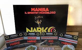 Manisa'da uyuşturucu operasyonu: 3 tutuklama