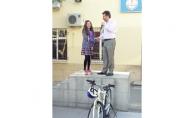 Sertifikayı aldı, bisikleti kaptı