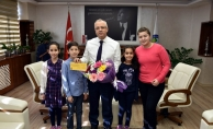 Minik yeteneklerden Başkan Kayda'ya konser daveti