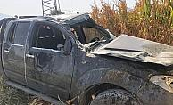 Manisada otomobil tarlaya uçtu: 4 yaralı